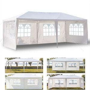 Lovinland 3 * 6m 4면 방수 텐트 웨딩 캠핑 및 기타 파티에 적합한 나선형 튜브가 장착 된 야외 전천후 미국 D