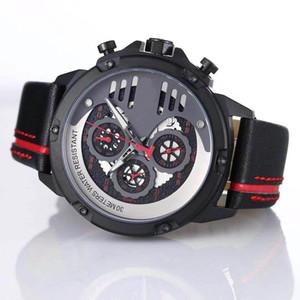 Estilo fresco T-Race Touch Cronógrafo Cuarzo limitado Relojes de pulsera T048 Reloj Carson para hombre Tradition Red 1853 Relojes con correa de cuero