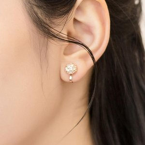 High Quality Ball Shaped Design Clip On No Piercing Earrings Made with Swarovski Elements Crystal Jewelry Accessories Gift for Women
