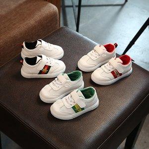 Новые Детская обувь Мужская и женская повседневная обувь Трехцветная простая стильная белая обувь Дикая детская обувь s