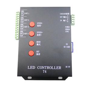 Freeshipping Пиксели T4 T-4000 Контроллер Pixel SD Card для WS2801 WS2812B WS2811 LPD8806 RGB LED Strip лампы программы контроллера DC5V-12V