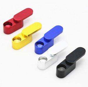 Camadas duplas cachimbo dobrável de metal Cachimbos Cachimbo Mão tabaco portátil tabaco para cachimbo para fumar Grinder Ferramenta Acessórios LSK120