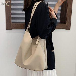 Bag Womens Bag Casual 2020 New Korean Version Single Shoulder Large Capacity Totte Bag Autumn And Winter Hand Held Large