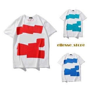 Mens Designer Shirt Verão Tops Casual camisetas para mulheres dos homens de manga curta Padrão Marca Roupa letra impressa Tees Crew Neck T-shirt