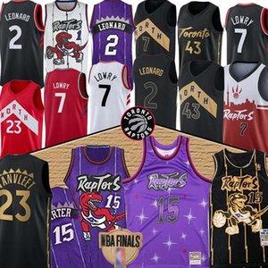 Vince Carter 15 Jersey Pascal 43 Siakam maglie Kyle Lowry 7 maglie Fred 23 VanVleet pallacanestro Jersey