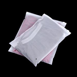 200pcs 뜨거운 판매 3 종류 크기 Pe 서리로 덥은 반투명 지퍼 부대 재사용 할 수있는 비닐 부대 저장 부대 보석 포장 부대