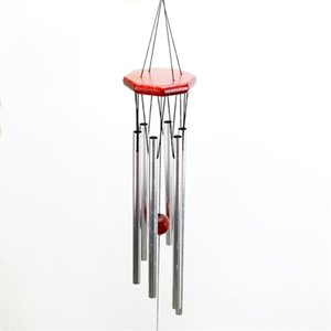 Vintage Natural Wood 6 Tubes Wind Chimes Hanging Bell Wohn Bett Wohnkultur Redwood Wind Bell Yard Garden Ornament