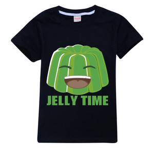 Toddler Kids T Shirt Jelly Time Short Sleeve Tops Tees for Teen Girls Boys 100% Cotton Desinger Shirts 2-14 Years