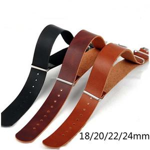 Couro pulseiras de relógio de alta qualidade pulseira de couro ZULU Strap NATO Imitação 18 20 22 milímetros 24 milímetros Assista Acessórios de Ajuste de substituição