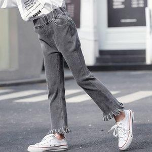 ملابس للبنات جينز جرس أسفل السراويل 2020 ربيع الأطفال الجديد للجينز نحيل الفتيات سروال بنطلون صيف الخريف