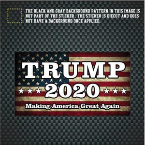 Truck Styling Donald Trump adesivos de carro adesivo decalque do carro Bandeira Janela impermeável vara 8 Estilo YSY223