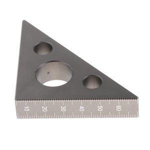 2 Lot Metric Aluminum Alloy Carpenter Triangle Square Ruler Easy-Read Silver