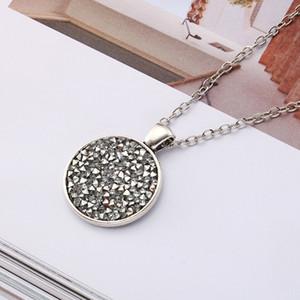 10 yeni Koni renk elmas geometrik yuvarlak Emaye Kristal Zirkon kolye elmas taklidi Karikatür Kawaii Taşlı Renkli takı