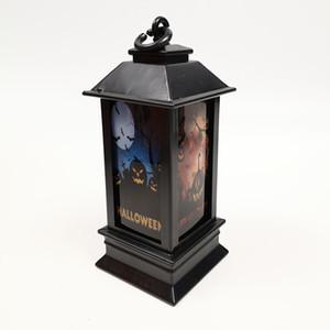 Хэллоуин тыква лампа призрак фестиваль Ночной свет большой череп маленький маяк постепенное свечение ураган фонарь красочные реквизит 2 8cp k1