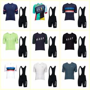 Maap Takımı Bisiklet Kısa Kollu Jersey Önlüğü Şort Setleri Erkekler Yaz Ropa Ciclismo Quickdry MTB Bisiklet Giyim U72226