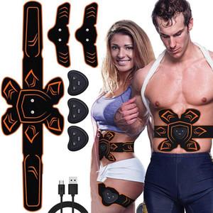 ABS Muskelstimulator Toner EMS Trainer Vibration Massage Bauchmuskel-Gürtel Bauch Arm-Bein-Körper schlank Shaper Abnehmen