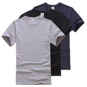 Твердые хлопок Футболка Мужчины Классический Комфортное лето футболка с коротким рукавом Мода Фитнес Basic Undershirt Чудесная M L XL XXL
