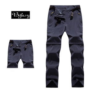 Befusy Stretch Summer Quick Dry Removable Men Hiking Pants Outdoor Sports Trousers For Climbing Cycling Water Repellent