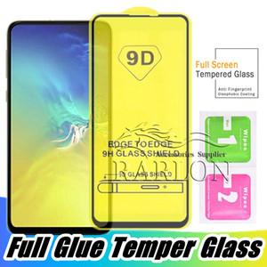 Película Protetora de Tela de Vidro Temperado 5D 6D 9D Cobertura Completa Para Samsung Galaxy S10 E M10 M20 A10 A70 J4 J6 J7 J8 Plus Huawei P30 Lite