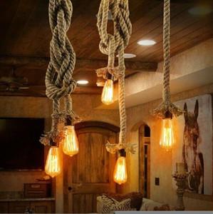 2020 Nouveau fête ou de célébration pendentif industriel lampe une tête Rétro Vintage Edison corde PLAFONNIER