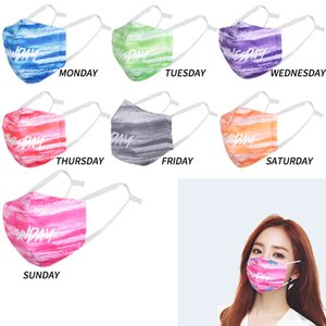 2020 Designer Masks Washable Week Breathable Mask 3D Printied PM2.5 cloth Face Mask Filter Can Be Replaced No Filter boom2017