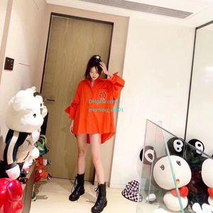 Cost price 2019 new Womens Shirts New Fashion Casual Tide Large Teeth Front Short Long Shirt Comfortable Joker Shirt