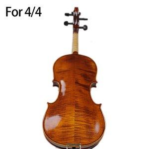 Dropship-Hand-Craft Расширенного Violin масла Лак Природного Flamed Клен Violin Spruce плита Ebony Часть с Bow Case Tuner