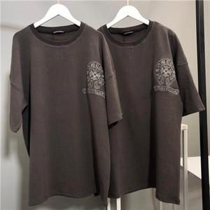 marques de luxe conçoivent CH croix en fer à cheval sanscrit broderie coton perméable à l'air T-shirt Homme Femme Streetwear Sweat Outdoor T-shirts