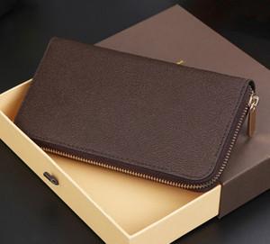 2019 nuevo diseñador de moda del embrague del cuero genuino de Zippy Monedero con la bolsa de polvo de la caja 60015 60017 buen precio