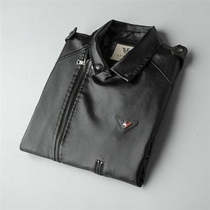 jean2 Avrupa İstasyon Ceket Erkek 2019 Sonbahar Yeni Desen Man Trend Gevşek Coat Kore Sürüm Giyim Tide deri ceket 09021