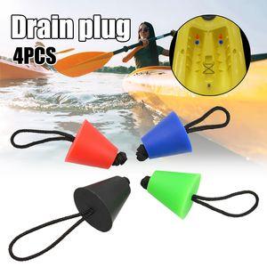 4pcs Atacado Universal Silicone Kayak Scupper plug Kit canoa furos de drenagem Stopper Bung Parte substituição ED889