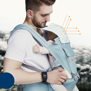 Baby Multifunctional Safety Fashion Father Mother Front & Back Carry Outdoor Breathable Carrier Baby Backpack Waist Stool Slings 11 Ways