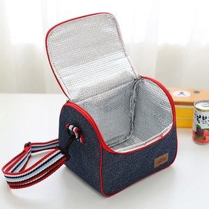 Picnic Bolsa de almacenamiento para acampar Bolsas térmicas portátiles para el almuerzo Reutilizable con aislamiento impermeable Caja de almuerzo Oxford Foil Lunch Tote Bag DH1139 T03