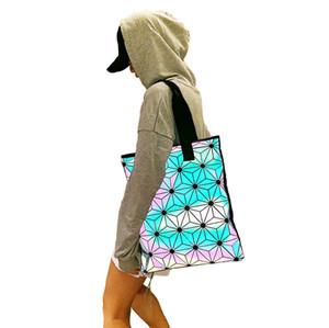 Luminous Handtasche für Frauen desier Tote-Geldbeutel Beutel Folding Lattice Geometric beiläufige Handtasche für Damen