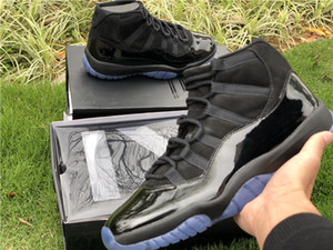 Подлинное качество 11s выпускной вечер 11 реального углеродного волокна человек дизайнер баскетбольной обуви крышка и платье XI все черные кроссовки Моды Size40-47
