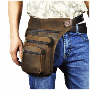 "Leg Messenger Travel Drop Original Waist 8"" Tablet Design Bag Fashion Casual Fanny Pack Belt Leather Men Trend Bag Male 3111 Cdiwf"
