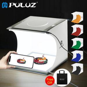 Photo Studio Kit PULUZ Mini 22,5 Fotografia LED Shadowless pannello della luce della lampada rilievo inferiore + 2LED Pannelli 20CM ID Photo Studio