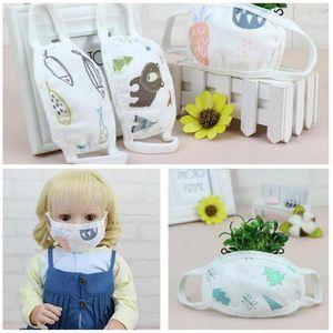 6 Layers Gauze Adult Kids Cotton Mask Thicken Warm Dust-proof Cotton Linen Masks Windproof Washable Reusable Anti Dust Masks DHL