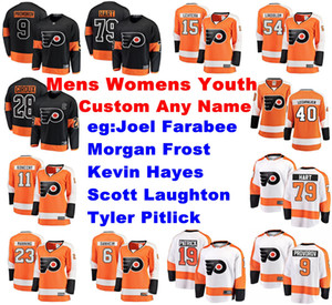 Philadelphia Flyers Jerseys Joel Farabee Jersey Tyler Pitlick Scott Laughton Morgan Gelo Hayes Ice Hockey Maglie da donna Personalizza Cucita
