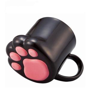 مخالب القطط اللطيفة الإبداعية قدح الشخصية السيراميكية Milk Mug Office 3D Cug Coff Coffee Capgs Cup Gift For Kids