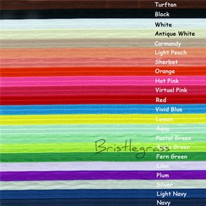 5 Yard 5 8 1.5cm Solid Color FOE Fold Over Elastic Spandex Satin Band Kid Hair Headband Dress Lace Trim DIY Sewing