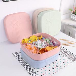 Portátil secas prato de frutas Fruit Box Household Compartimento com tampa sala de visitas moderna Grande Snack vestido criativo de armazenamento selado