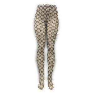 Mulheres malha Letter G Sexy Stockings alta Elastic Top Grade Lady Leggings Anti-gancho marca de moda calças justas