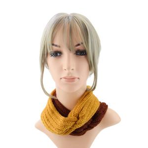 jaune mazarine élastique à tricoter bande de cheveux à la main de laine fil bandeau accessoires pour chaud automne et d'hiver Cheveux Bandes