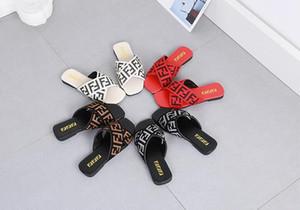 Femmes chaussons plat talon Tongs dames Sandales lettres été tête carrée de Webbing Diapositives Plage 35-42 épidermures