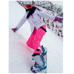 Winter Ski Wear Women's Brand 2018 High Quality Ski Jacket and Bib Pants Snow Warm Waterproof Windproof and Snowboard Suit
