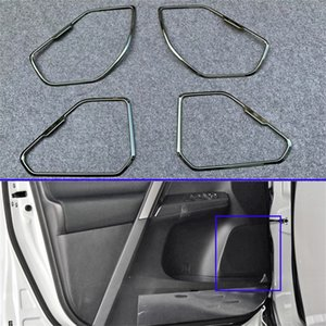 Para Toyota RAV4 2019 2020 puerta interior del coche altavoz estéreo anillo de Audio cubierta marco de sonido decoración ajuste accesorios de estilismo de coche