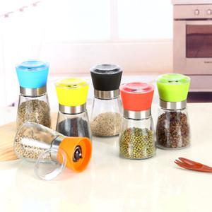 Sal e Pimenta Moinho Moedor De Pimenta De Plástico Shaker Spice Sal Container Condimento Jar Titular Garrafas De Moagem