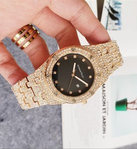 High Quality Watches Men Quartz Watch Casual Full Steel Dial Style woman All over the sky stars Crystal Diamond Calendar Full diamond watch