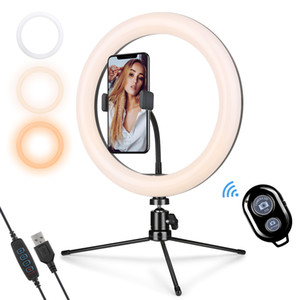 "10"" Ring Light com suporte e Phone Holder, de 10 polegadas LED Círculo Luz para Stream, selfie, vídeos do YouTube, Foto Tiro"